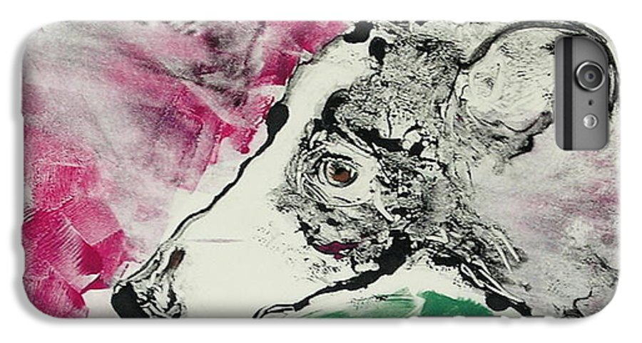 Greyhound IPhone 7 Plus Case featuring the painting Cyrus by Cori Solomon