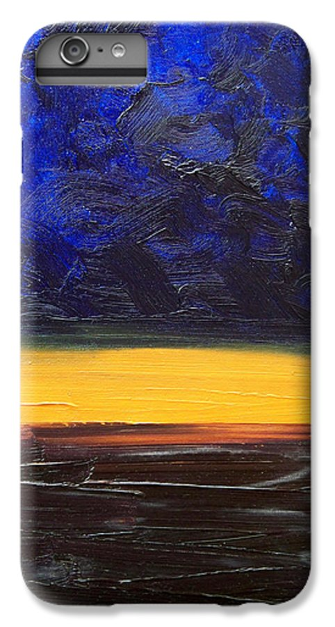 Landscape IPhone 7 Plus Case featuring the painting Desert Plains by Sergey Bezhinets