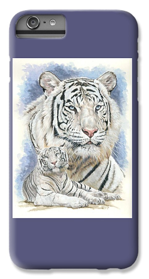 Big Cat IPhone 7 Plus Case featuring the mixed media Dignity by Barbara Keith