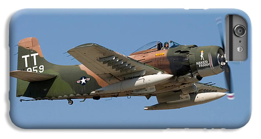 3scape IPhone 7 Plus Case featuring the photograph Douglas Ad-4 Skyraider by Adam Romanowicz