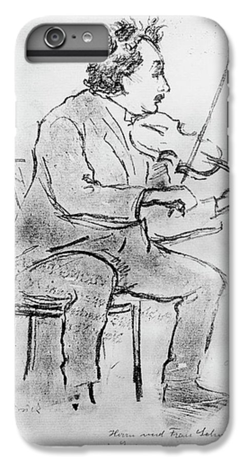 Albert Einstein IPhone 7 Plus Case featuring the photograph Einstein Playing The Violin by Emilio Segre Visual Archives/american Institute Of Physics