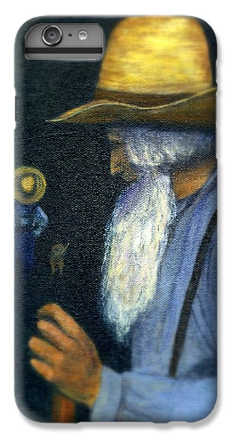 Men IPhone 7 Plus Case featuring the painting Eli Remembers by Gail Kirtz