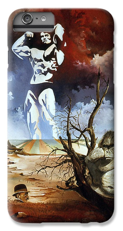 Surrealism IPhone 7 Plus Case featuring the painting Evolution by Otto Rapp