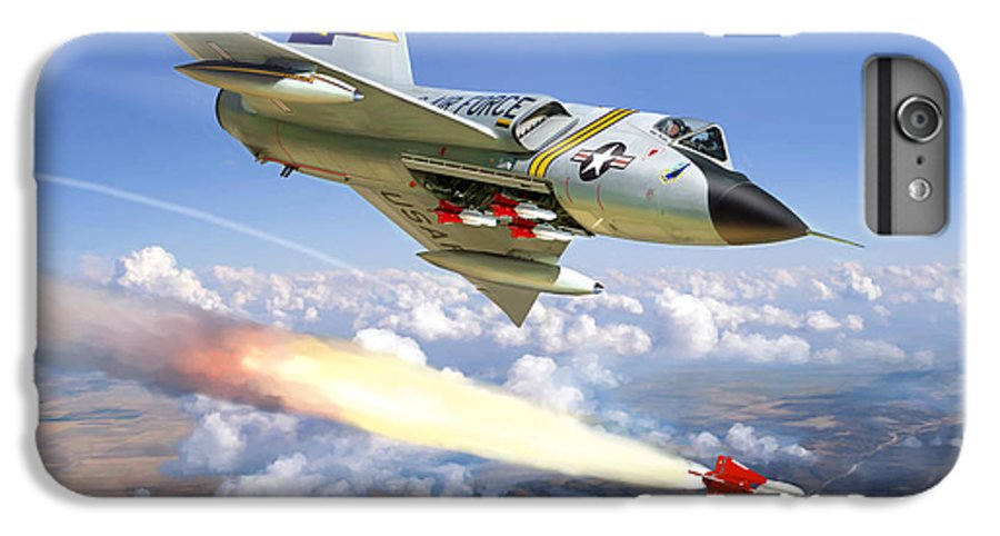 Aviation IPhone 7 Plus Case featuring the painting F-106 Delta Dart 5th Fis by Mark Karvon