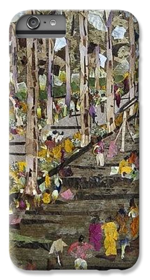 Garden Morning View IPhone 7 Plus Case featuring the mixed media Garden Picnic by Basant Soni