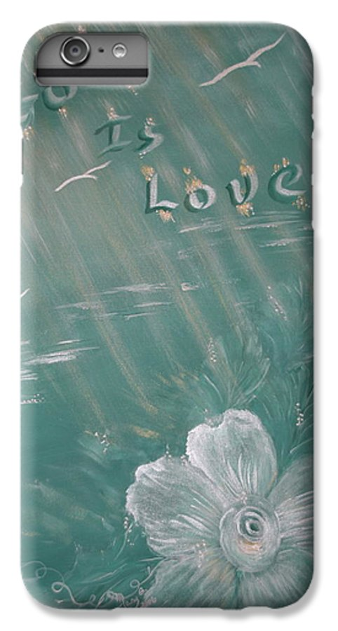 Christian Art IPhone 7 Plus Case featuring the painting God Is Love by Mary Grabill