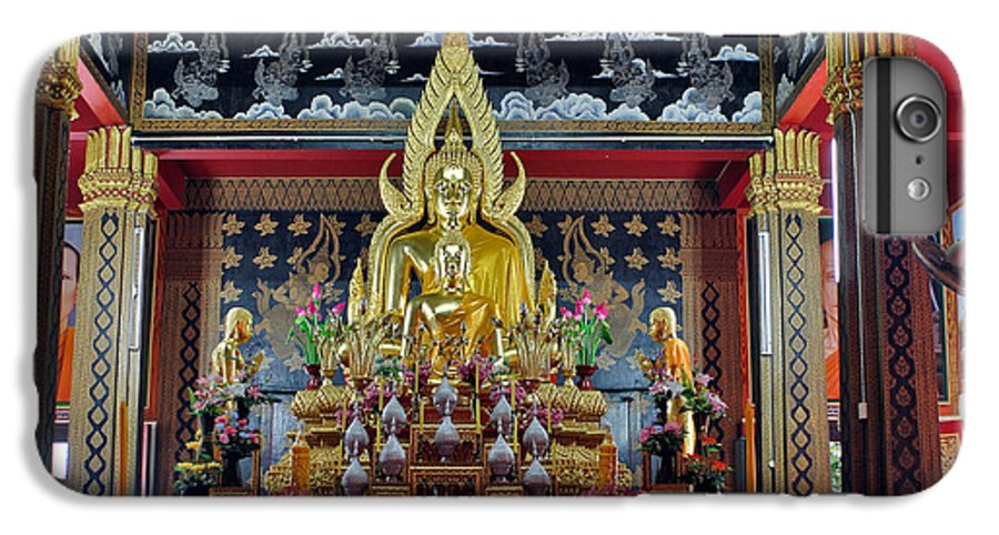 3scape IPhone 7 Plus Case featuring the photograph Golden Buddha by Adam Romanowicz