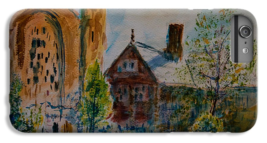 Watercolor IPhone 7 Plus Case featuring the painting Graham Chapel Morning Effect by Horacio Prada