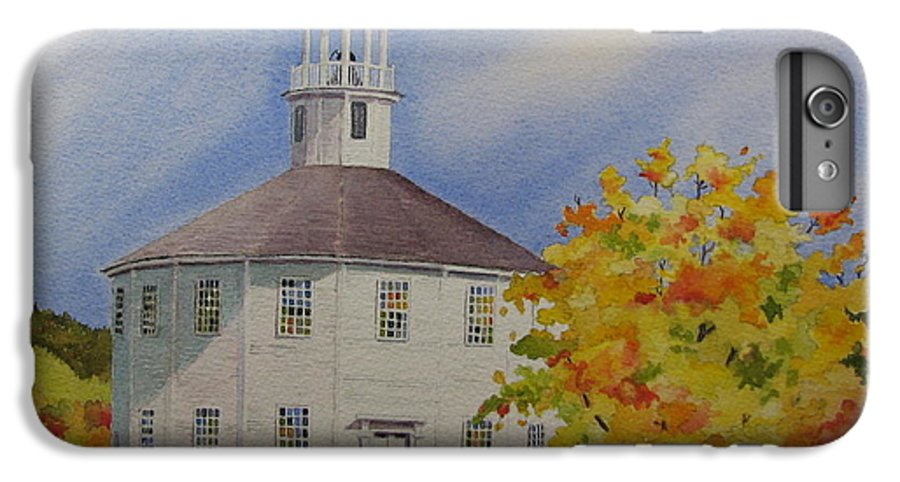 Richmond IPhone 7 Plus Case featuring the painting Historic Richmond Round Church by Mary Ellen Mueller Legault