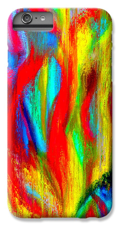 Abstract IPhone 7 Plus Case featuring the painting Inspire Experiment by Stan Hamilton