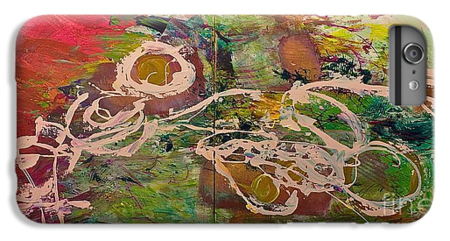 Landscape IPhone 7 Plus Case featuring the painting Journey Forth by Allan P Friedlander