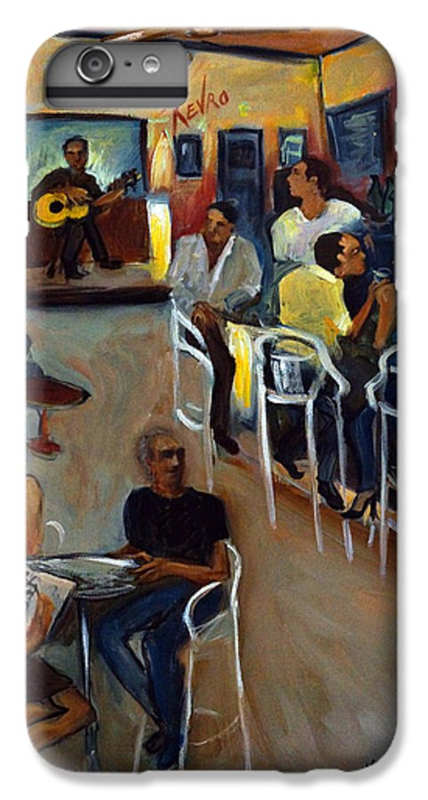 Art Bar IPhone 7 Plus Case featuring the painting Kevro's Art Bar by Valerie Vescovi