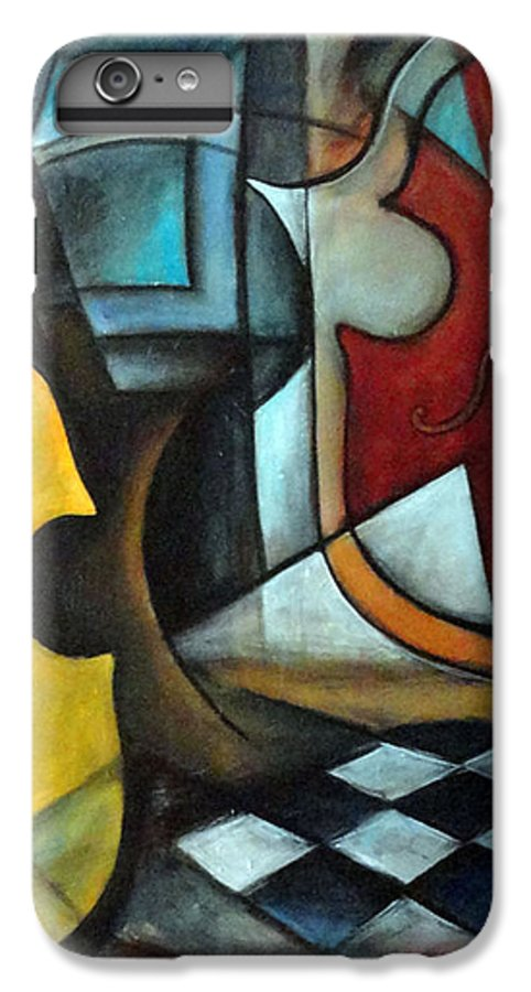 Abstract IPhone 7 Plus Case featuring the painting La Musique 1 by Valerie Vescovi
