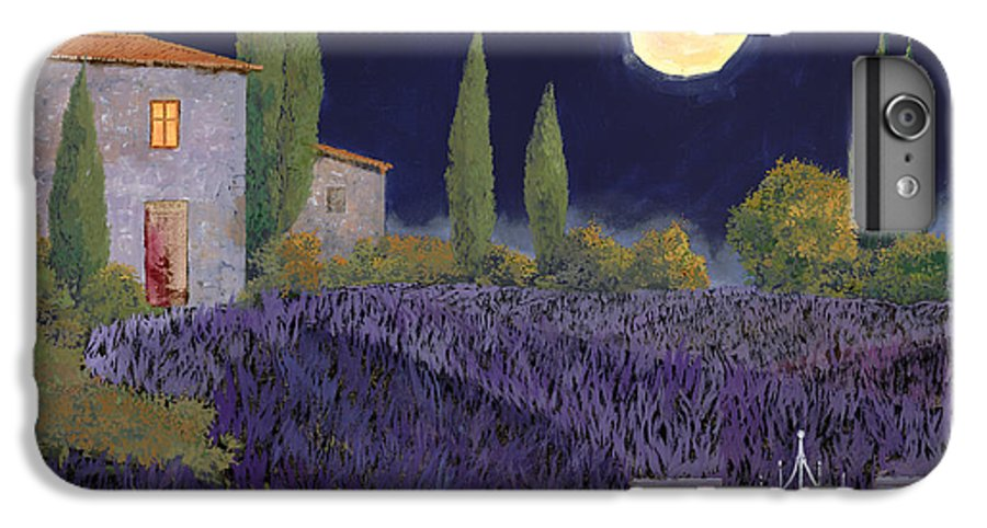Tuscany IPhone 7 Plus Case featuring the painting Lavanda Di Notte by Guido Borelli