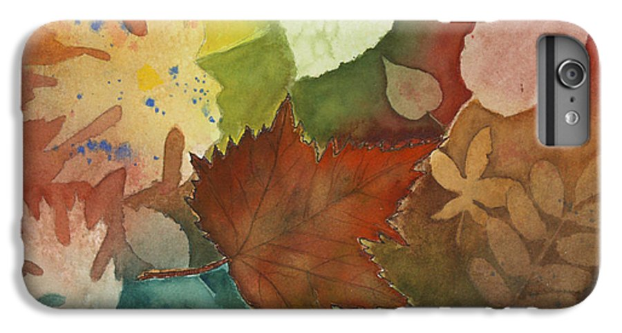 Leaves IPhone 7 Plus Case featuring the painting Leaves Vl by Patricia Novack