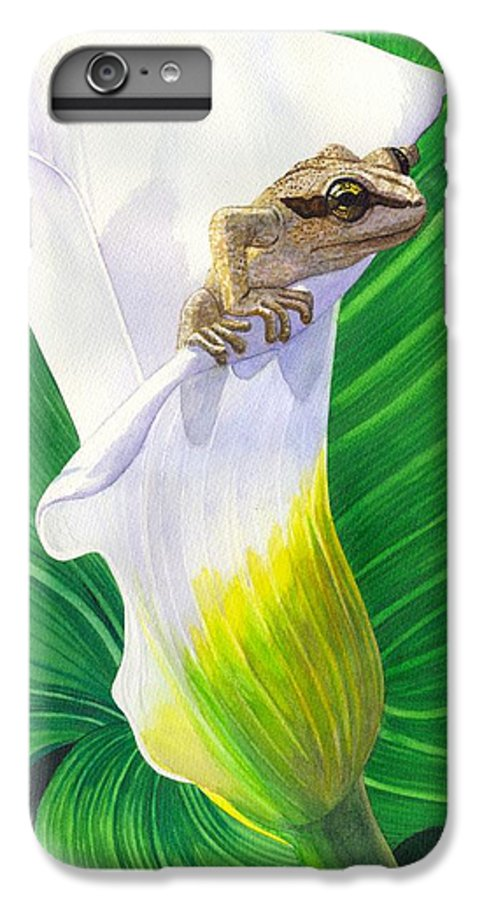 Frog IPhone 7 Plus Case featuring the painting Lily Dipping by Catherine G McElroy