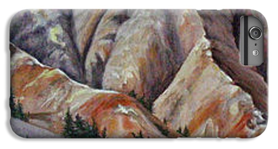 Mountains IPhone 7 Plus Case featuring the painting Marble Ridge by Elaine Booth-Kallweit