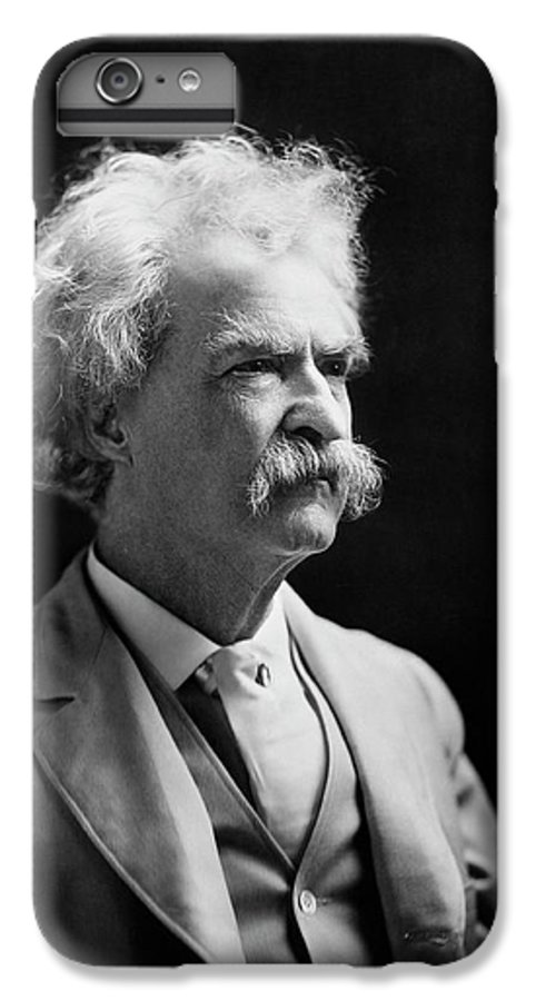Mark Twain IPhone 7 Plus Case featuring the photograph Mark Twain by Library Of Congress
