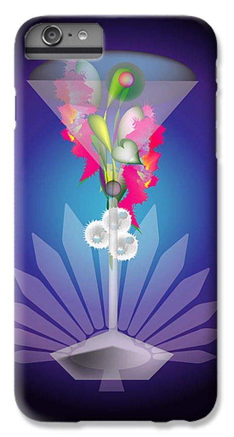 Martini IPhone 7 Plus Case featuring the digital art Martini Flower by George Pasini