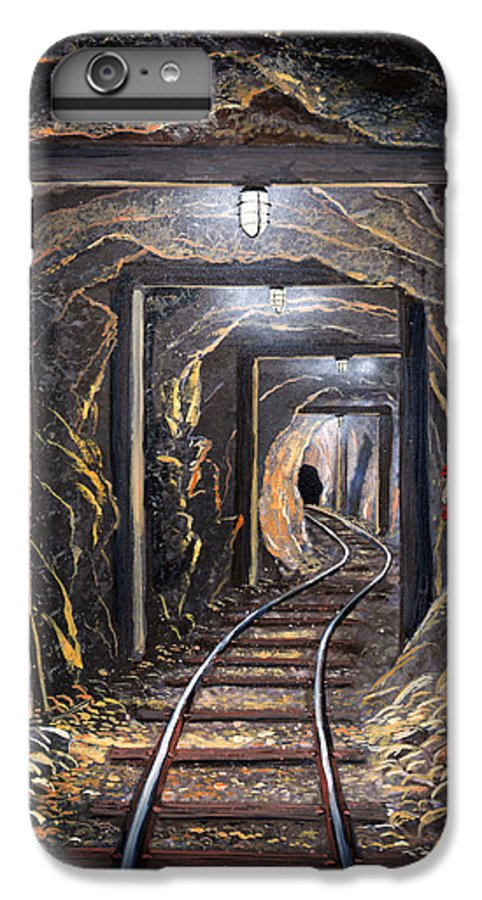 Mural IPhone 7 Plus Case featuring the painting Mine Shaft Mural by Frank Wilson