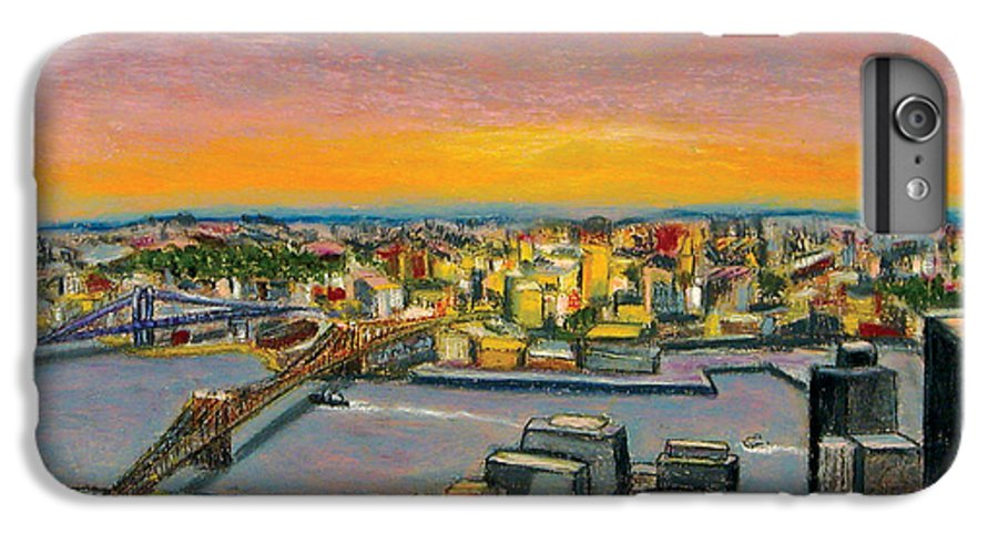 Cityscape IPhone 7 Plus Case featuring the painting New York 38 by Karin Batten