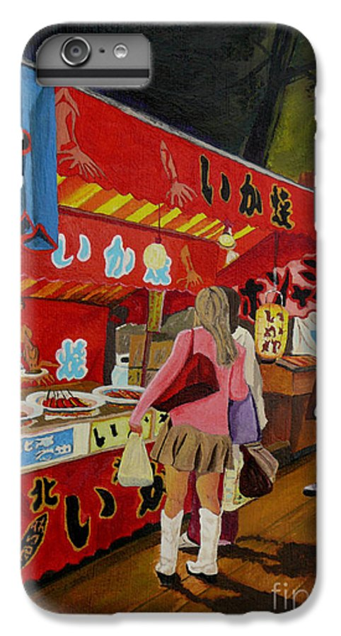 Japan IPhone 7 Plus Case featuring the painting Night Festival by Anthony Dunphy