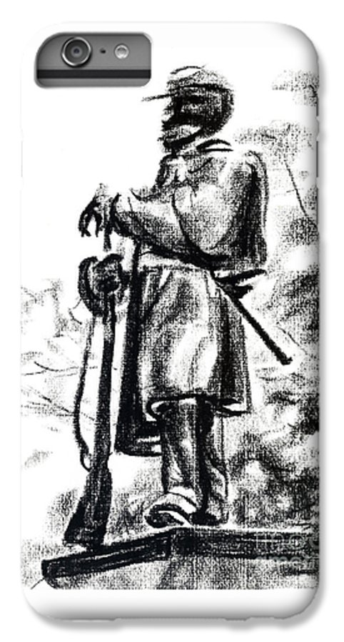 On Duty In Brigadoon No Ch101 IPhone 7 Plus Case featuring the drawing On Duty In Brigadoon No Ch101 by Kip DeVore