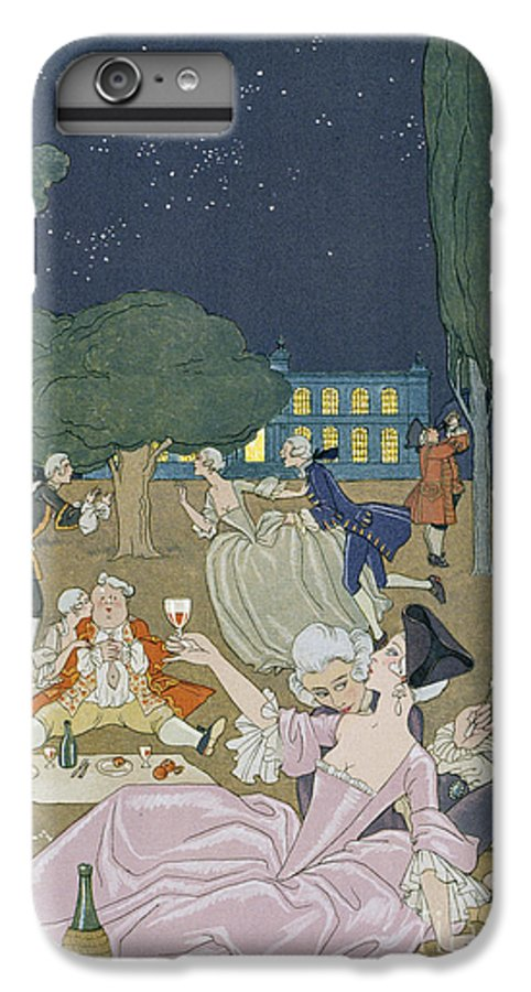Nocturne IPhone 7 Plus Case featuring the painting On The Lawn by Georges Barbier