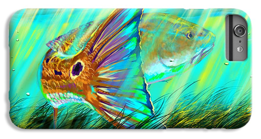 Fishing IPhone 7 Plus Case featuring the digital art Over The Grass by Yusniel Santos