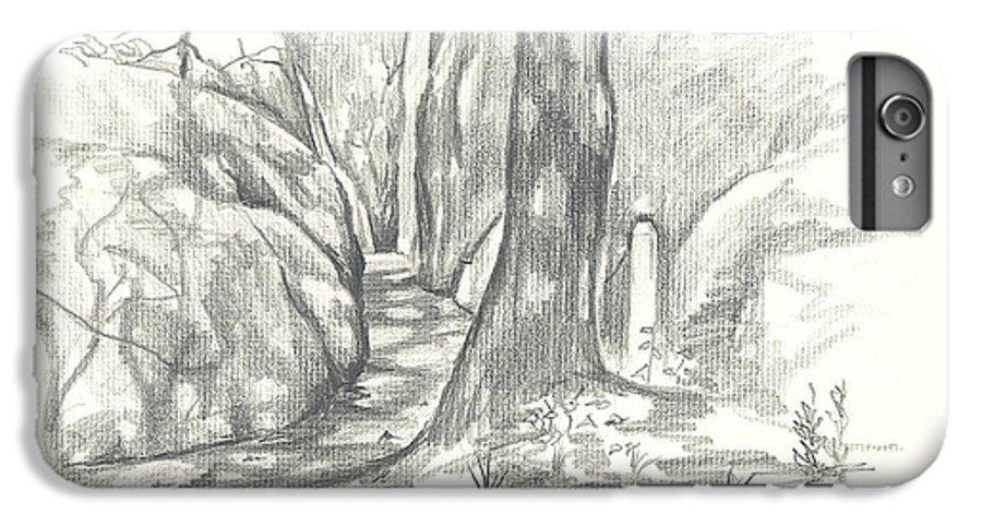 Passageway At Elephant Rocks IPhone 7 Plus Case featuring the drawing Passageway At Elephant Rocks by Kip DeVore