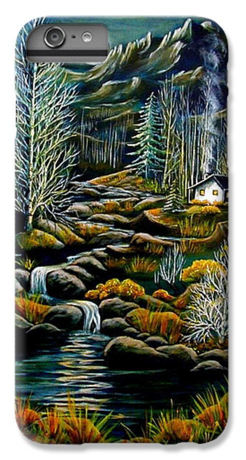 Mountains IPhone 7 Plus Case featuring the painting Peaceful Seclusion by Diana Dearen