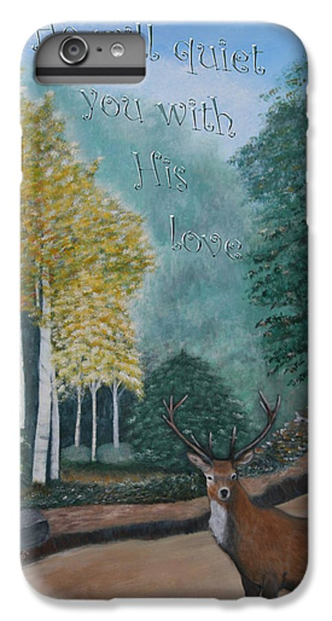 Landscape IPhone 7 Plus Case featuring the painting Peaceful Walk by Mary Grabill