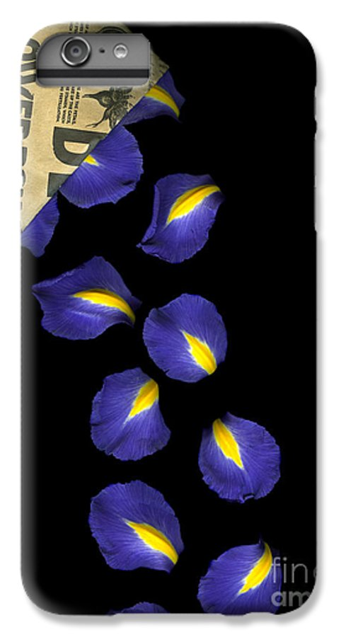 Scanography IPhone 7 Plus Case featuring the photograph Petal Chips by Christian Slanec
