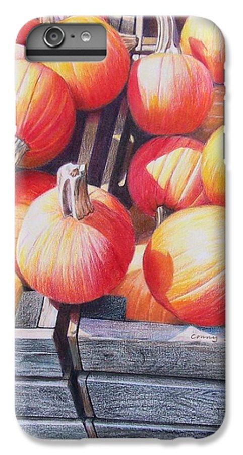 Pumpkins IPhone 7 Plus Case featuring the painting Pumpkins by Constance Drescher