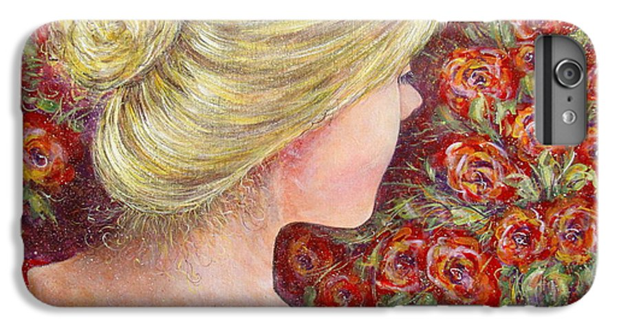 Female IPhone 7 Plus Case featuring the painting Red Scented Roses by Natalie Holland