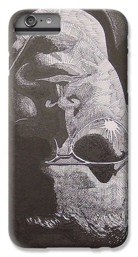 Portraiture IPhone 7 Plus Case featuring the drawing Reflection by Denis Gloudeman