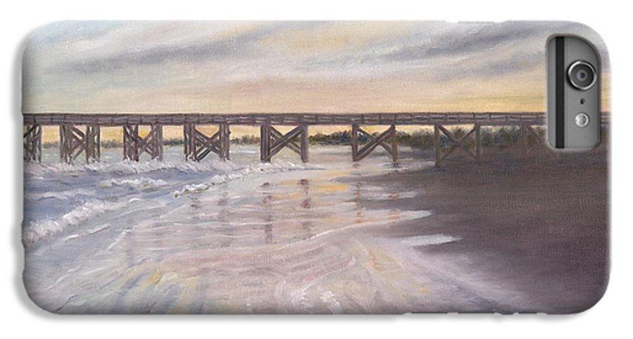 Beach; Pier; Low Country IPhone 7 Plus Case featuring the painting Reflections by Ben Kiger