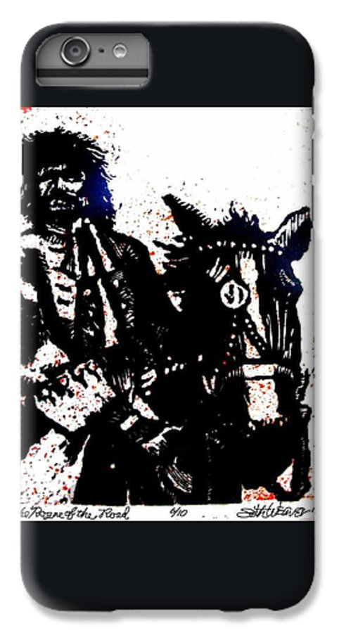 English Highwayman IPhone 7 Plus Case featuring the mixed media Rogue Of The Road by Seth Weaver