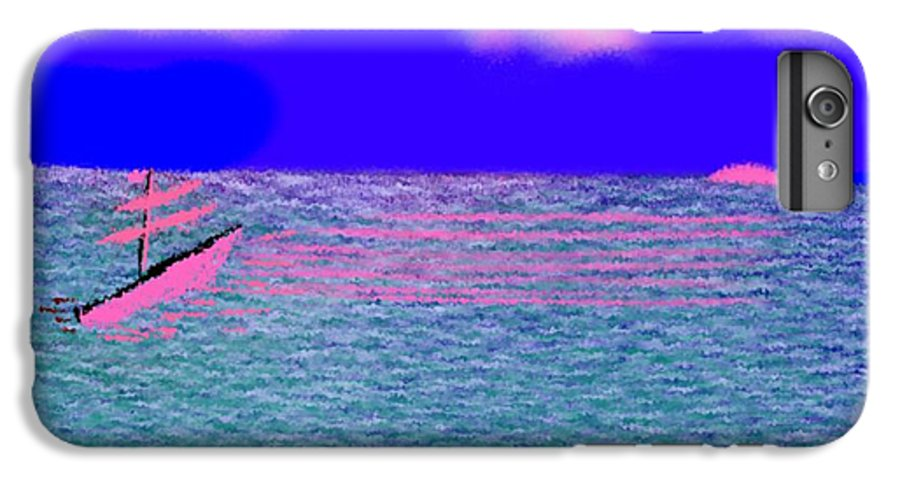 Early Evening IPhone 7 Plus Case featuring the digital art Sea.sun by Dr Loifer Vladimir