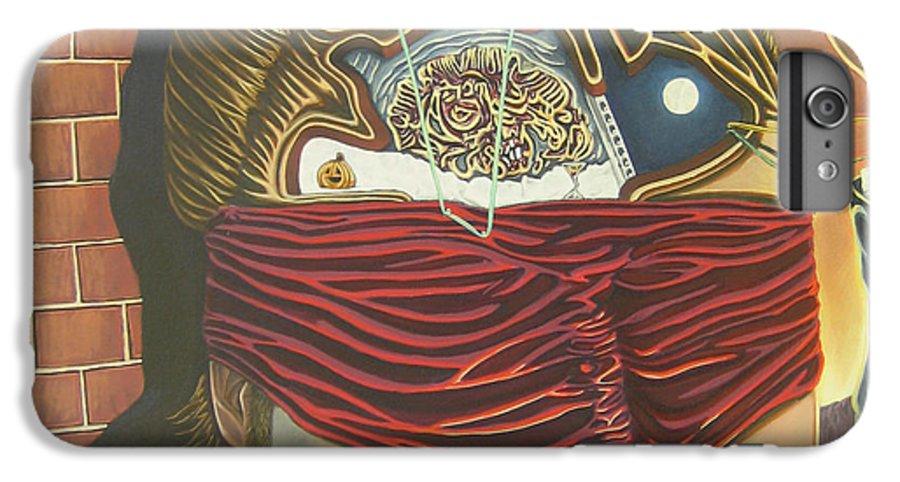Self Portrait IPhone 7 Plus Case featuring the painting Subconcious Self Portrait by Mack Galixtar
