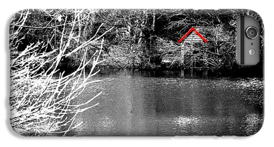 Black IPhone 7 Plus Case featuring the photograph Shed On The Lake by Christopher Rowlands