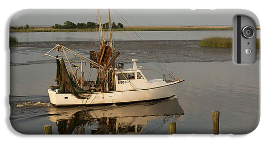 Human IPhone 7 Plus Case featuring the photograph Shrimp Boat On Apalachicola Bay by Jim West