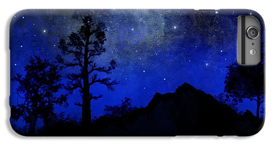 Sierra Silhouette IPhone 7 Plus Case featuring the painting Sierra Silhouette Wall Mural by Frank Wilson