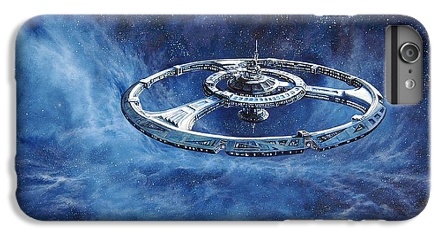 Sci-fi IPhone 7 Plus Case featuring the painting Deep Space Eight Station Of The Future by Murphy Elliott
