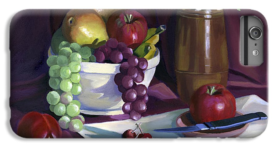 Fine Art IPhone 7 Plus Case featuring the painting Still Life With Apples by Nancy Griswold