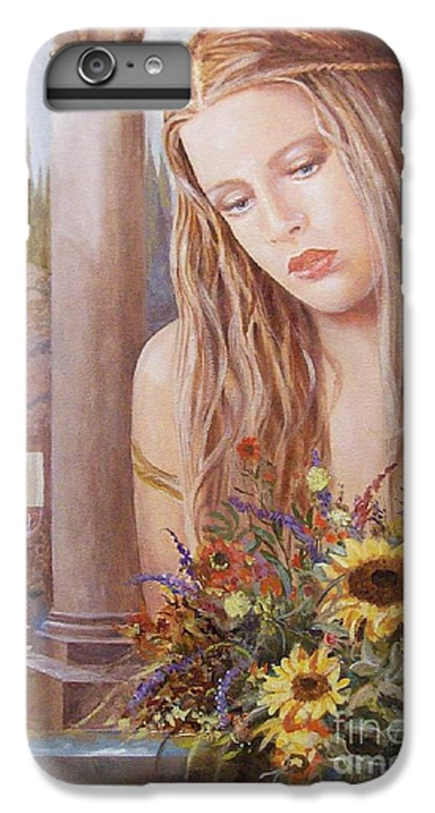 Portrait IPhone 7 Plus Case featuring the painting Summer Day by Sinisa Saratlic