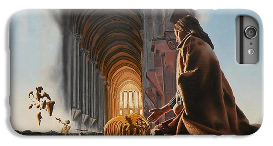 Surreal IPhone 7 Plus Case featuring the painting Surreal Cathedral by Dave Martsolf