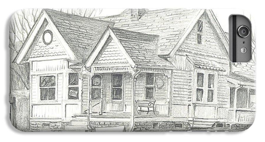 The Antique Shop IPhone 7 Plus Case featuring the drawing The Antique Shop by Kip DeVore