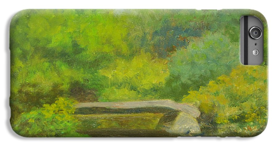 Landscape IPhone 7 Plus Case featuring the painting The Greens Of Summer by Phyllis Tarlow