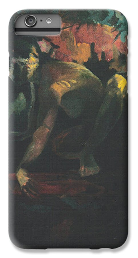 Figure IPhone 7 Plus Case featuring the painting The Hot Tub by John L Campbell